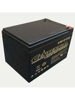 Centennial CB12120F1 12 Volt 2 Amp Hour Sealed Lead Acid AGM Battery