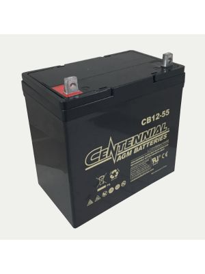 Centennial CB12-55 12V 55Ah Group 22NF Sealed Lead Acid AGM Battery