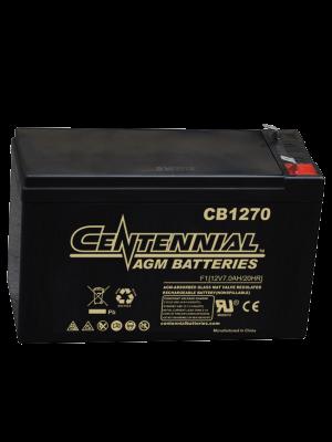 Centennial CB1270F2 12 Volt 7 Amp Hour Sealed Lead Acid AGM Battery