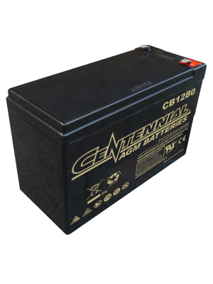 Centennial CB1280F1 12 Volt 8 Amp Hour Sealed Lead Acid AGM Battery