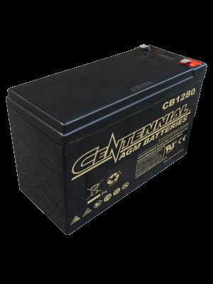 Centennial CB1280F2 12 Volt 8 Amp Hour Sealed Lead Acid AGM Battery