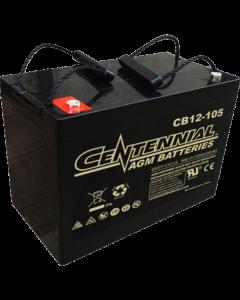 Centennial CB12-105 12V 105Ah Group 27 Sealed Lead Acid AGM Battery