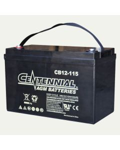 Centennial CB12-115 12V 115Ah Group 31 Sealed Lead Acid AGM Battery