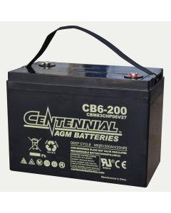 Centennial CB6-200 6V 200Ah Group 6V27 Sealed Lead Acid AGM Battery