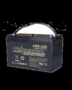 Centennial CB6-220 6V 220Ah Group 6V27 Sealed Lead Acid AGM Battery