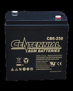 Centennial CB6-250 6V 250Ah GC2H Sealed Lead Acid AGM Battery