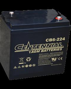 Centennial CB6-224 6V 224Ah GC2 Sealed Lead Acid AGM Battery