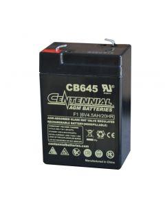 Centennial CB645 6 Volt 4.5 Amp Hour Sealed Lead Acid AGM Battery