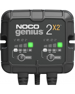 GENIUS2X2  6V/12V 2-Bank, 4-Amp (2-Amp Per Bank) Fully-Automatic Smart Charger