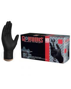 BKL-MEA - Black Lightning Nitrile Gloves - Box 100 / Medium (BL-M)