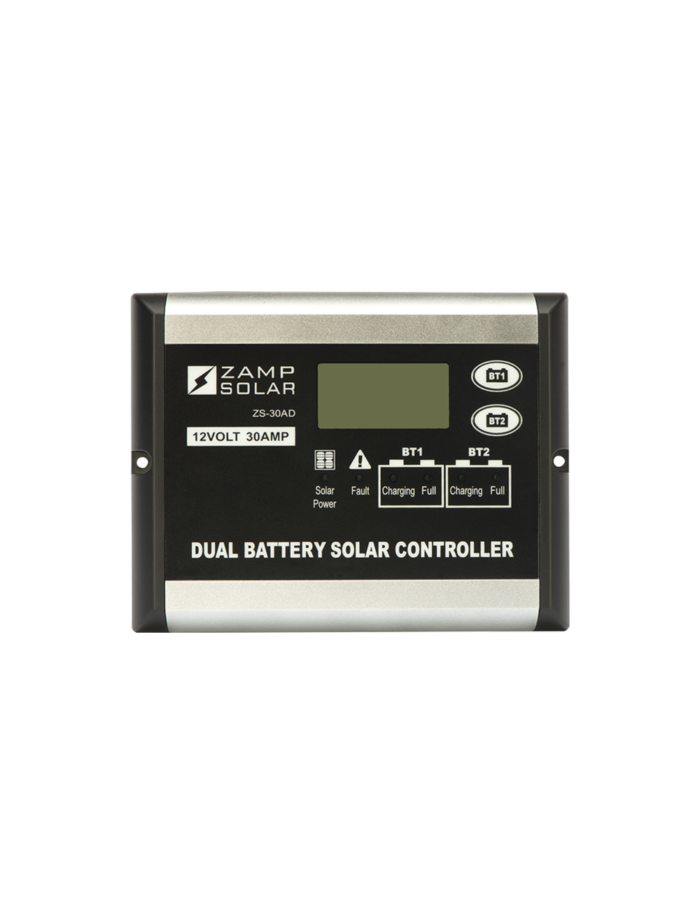 Zamp Solar 30 Amp Dual Battery Bank 5 Stage Pwm Charge Controller